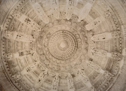 Marble ceiling of Jain Temple, Mt Abu